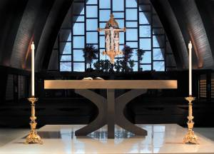 altar and candles